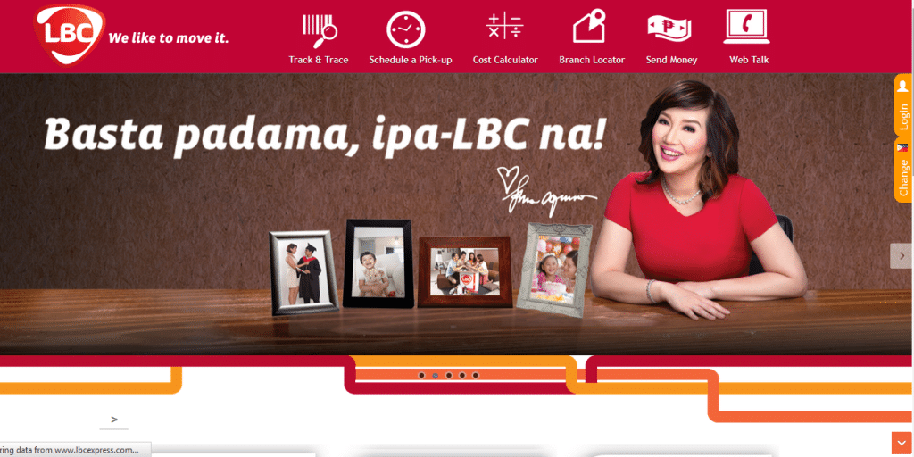 home page of LBC website