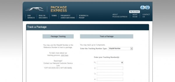 greyhound package express tracking form