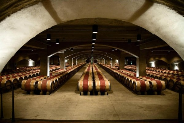 spectacular wine cellar in Napa Valley CA