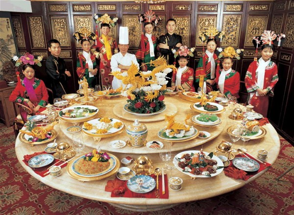 traditional feast in historic Chinese style