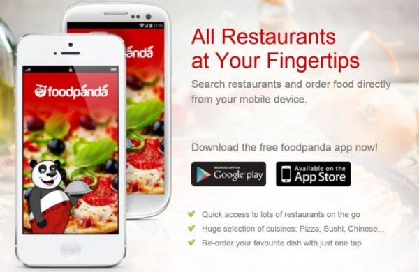 ad of food delivery app foodpanda