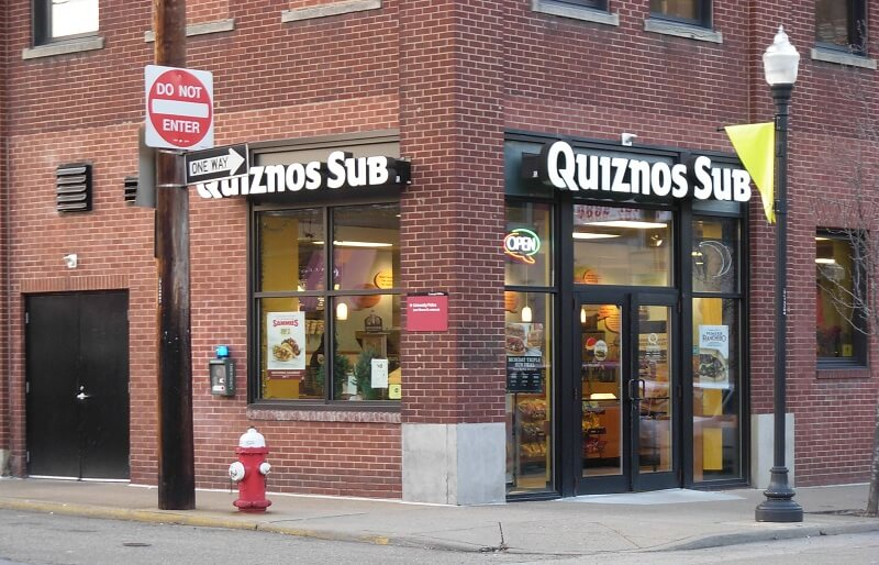 quiznos delivery franchise