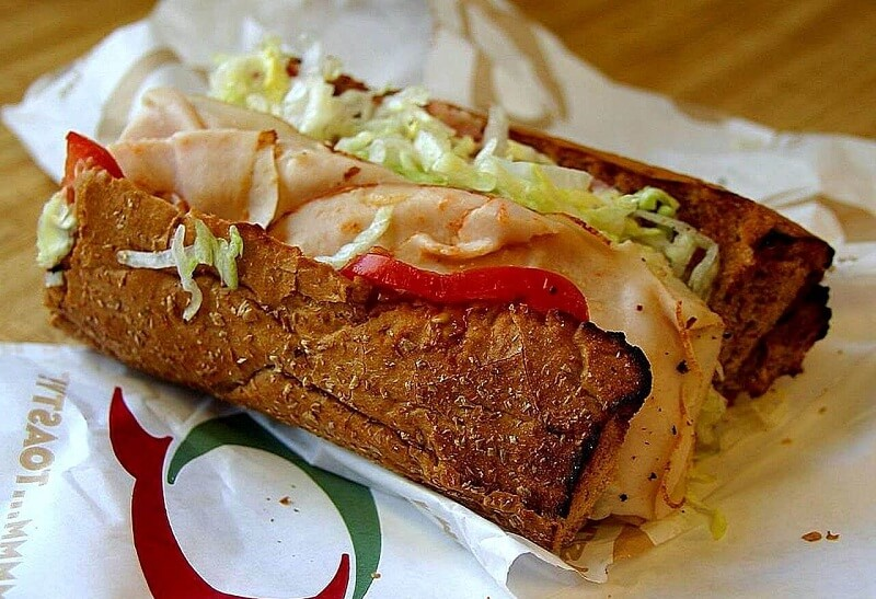 a quiznos delivery sandwich