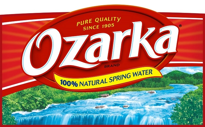 ozarka water delivery label