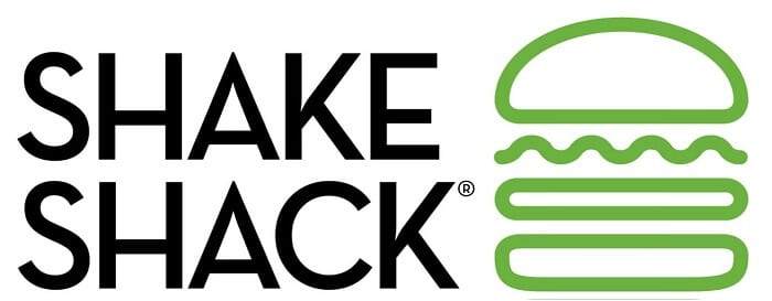 shake shack logo on white background