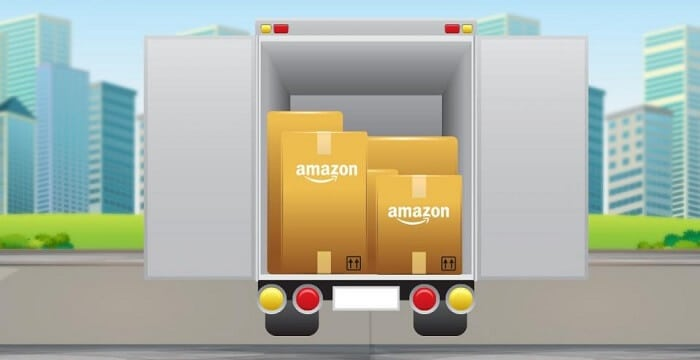 amazon delivery truck illustration