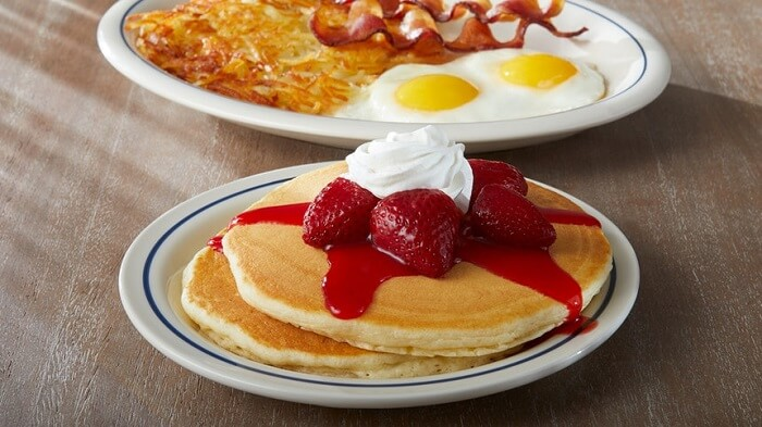 IHOP dishes on a table