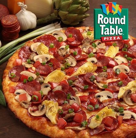 round table pizza poster