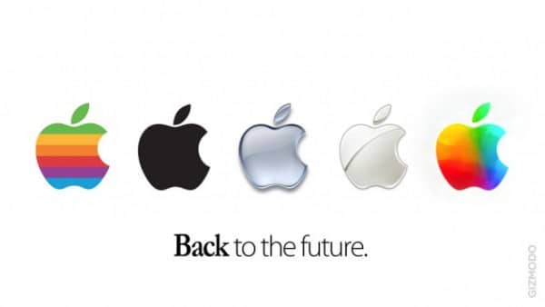 logo and type slogan of electronics company Apple