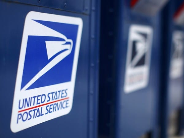 Reuters photograph of US Postal Services boxes