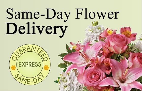 ad for same day express delivery service from Flower Express