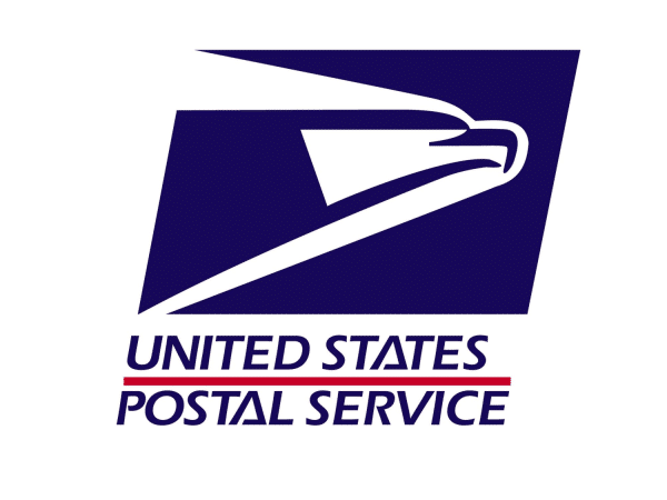brand logo with eagle of the united states postal service
