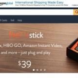 screenshot of main page at amazon.com