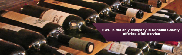 screenshot of the EWD Express Wine Delivery website home page