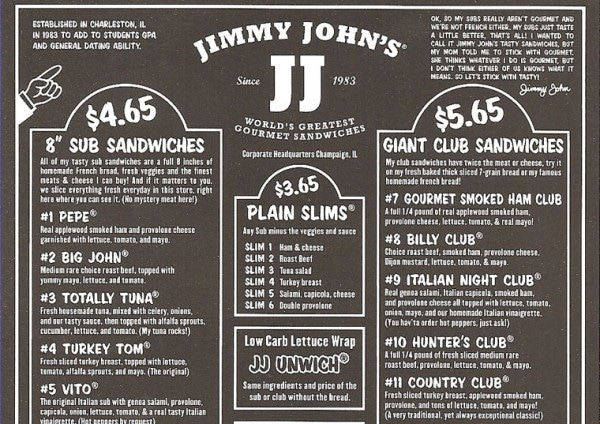 photograph regarding Jimmy Johns Printable Menu named What By yourself Should really Notice regarding Jimmy Johns Shipping and delivery