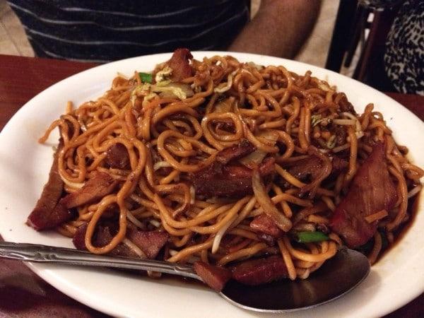 Pork Lo Mein dish from Chopstix in Tampa FL