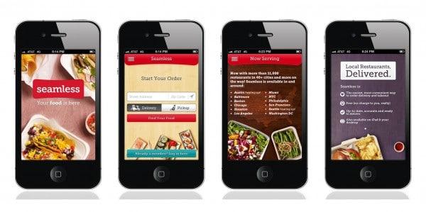 interface of Seamless 2.0 iPhone app