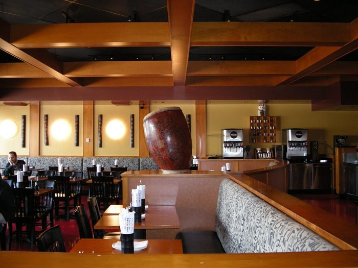 the interiorof a pei wei restaurant