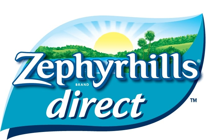 the logo of zephyrhills water delivery
