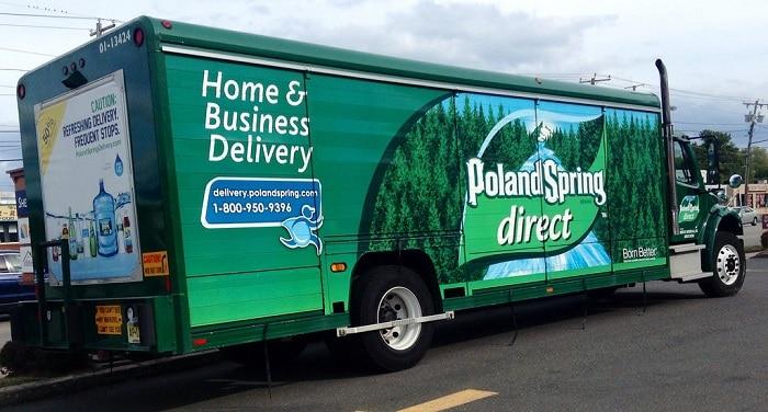 poland spring truck