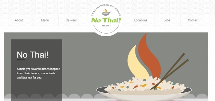 no thai website with logo