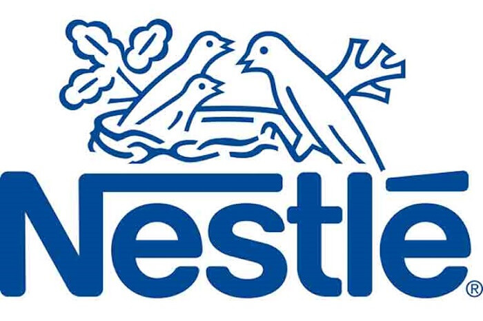 Nestle logo in blue
