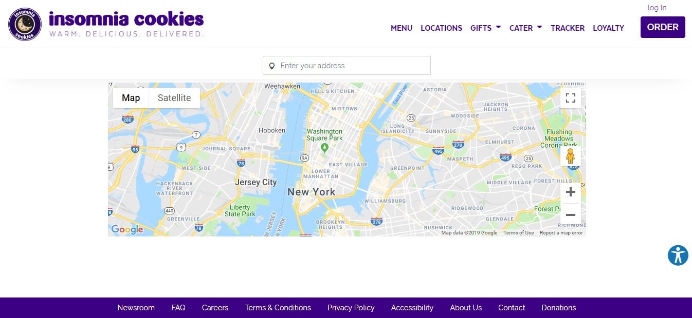 insomnia cookies website screenshot
