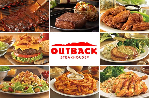 Outback steakhouse food selection